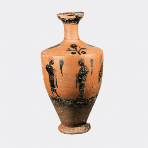 Helios Gallery Antiquities - Greek Eubeoan black figure lekythos