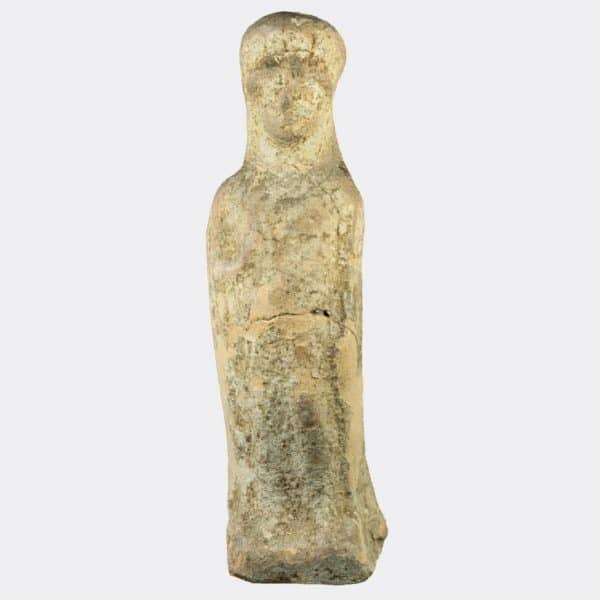 Greek Antiquities - pottery votive goddess figure