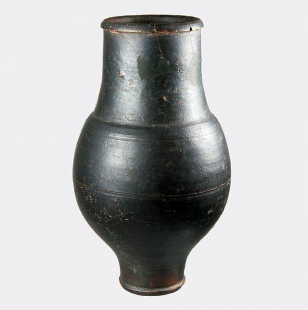 Helios Gallery Antiquities - Ancient Roman black pottery vessel