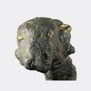 Helios Gallery Antiquities - Ancient Roman bronze rams head finial