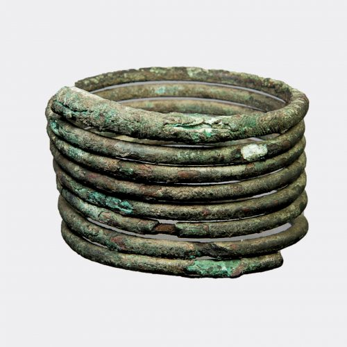 Ancient jewellery- West Asian large bronze spiral bracelet