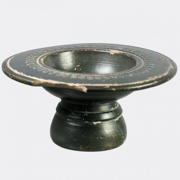Greek Antiquities - Greek black glaze stemmed bowl