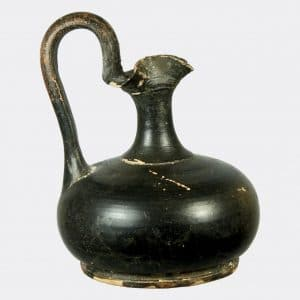 Greek Antiquities - Greek black glazed pottery jug