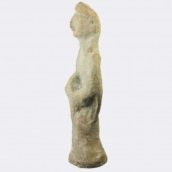 Cypriot Antiquities - Cypriot votive figure holding an offering