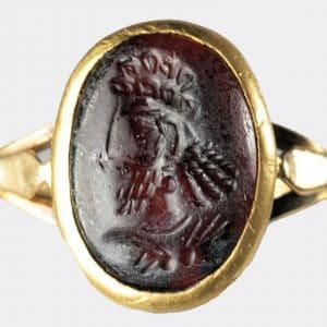 Ancient Jewellery - Sassanian portrait seal, ex Dukes of Argyll