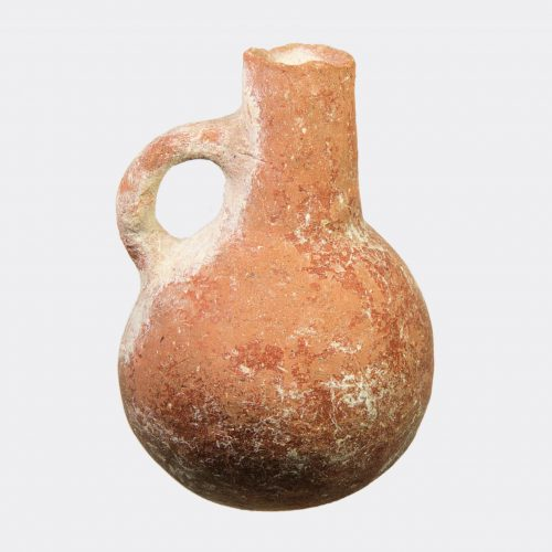 Cypriot Antiquities - Cypriot Bronze Age jug with incised snake handle