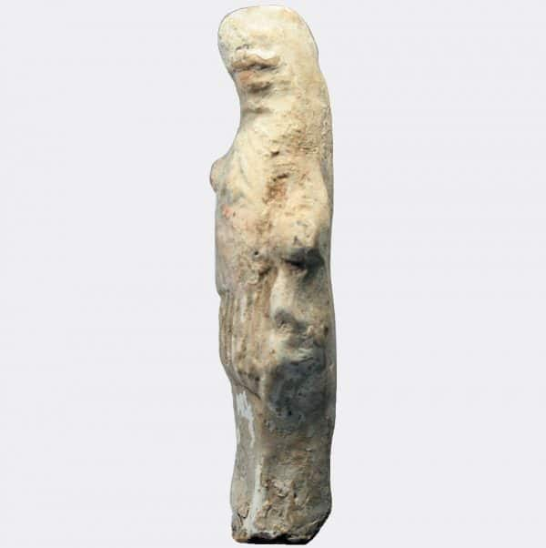 Greek Antiquities - Greek small painted pottery figure of Silenos