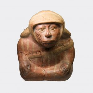 Pre-Columbian Antiquities - Pre-Columbian Moche vessel in the form of an old lad