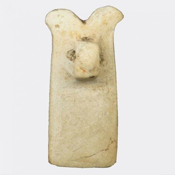 Egyptian Antiquities - Egyptian stone double plume amulet