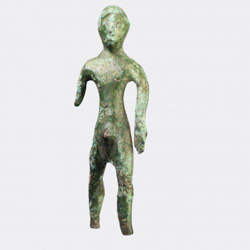 Etruscan Antiquities - Etruscan bronze kouros figure
