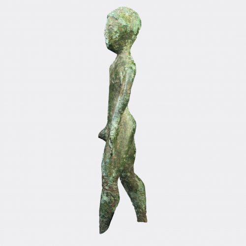 Etruscan Antiquities - Etruscan bronze kouros figure