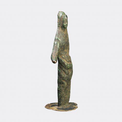 Etruscan Bronze -Etruscan bronze draped female offerant