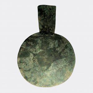 West Asian Antiquities - Amlash sheet bronze decorated idol or mirror