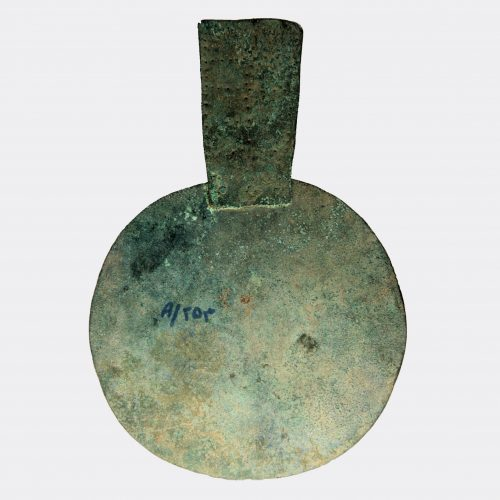West Asian Antiquities - Amlash sheet bronze decorated idol or mirror