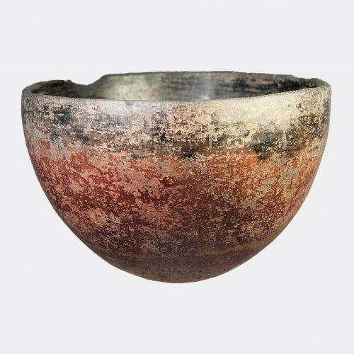 Egyptian Antiquities - Egyptian Naqada II black top pottery bowl