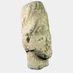 Cypriot Antiquities - Cypriot limestone votive head