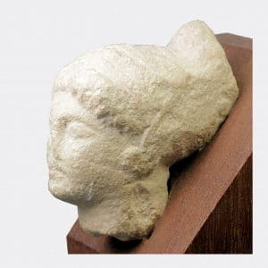 Cypriot Antiquities - Cypriot limestone female head