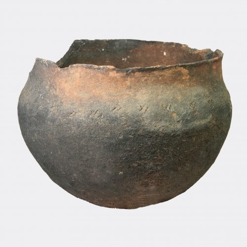 British Antiquities - Anglo-Saxon large decorated pottery cooking vessel