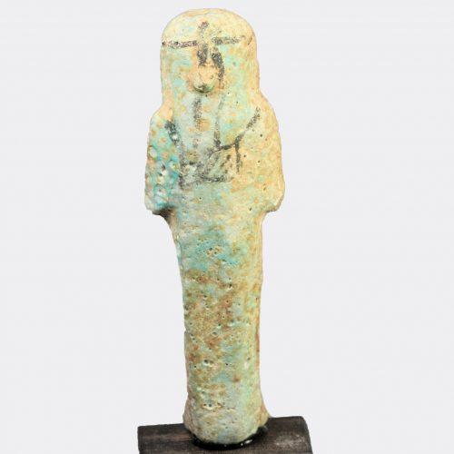 Egyptian Antiquities - Egyptian faience shabti figure