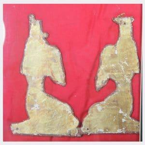 Egyptian Antiquities - Egyptian gilded cartonnage figures