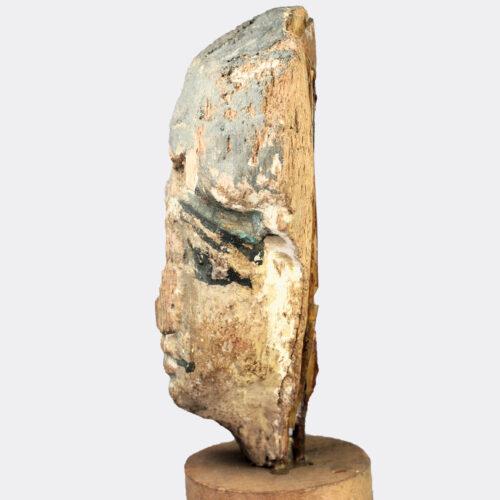 Egyptian Antiquities - Egyptian painted wood head of Ptah-Soker-Osiris