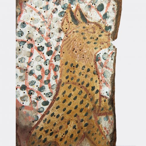 Egyptian Antiquities - Egyptian 18th Dynasty painting of the divine cat Mau