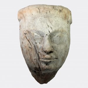Egyptian Antiquities - Egyptian large carved wood mummy mask