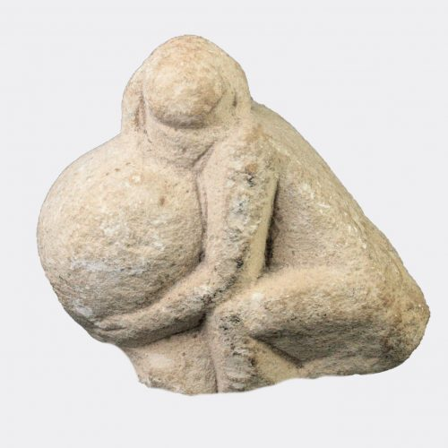 Egyptian Antiquities - Egyptian limestone Harpocrates with honey-pot