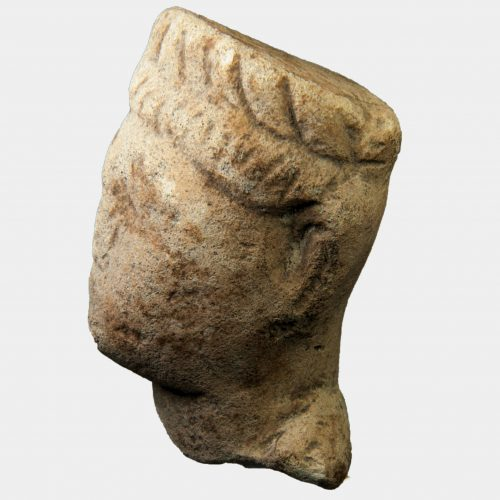 Cypriot Antiquities - Cypriot limestone head
