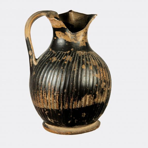 Greek Antiquities - Greek Gnathian pottery oinochoe