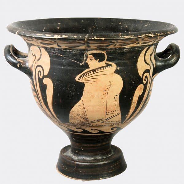Greek Antiquities - Greek red figure athlete krater