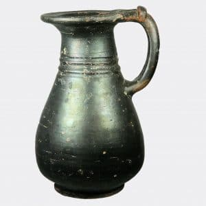 Roman Antiquities - Italic black glazed pottery jug