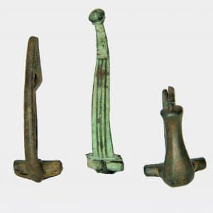 Roman Antiquities - Three Roman bronze fibulae