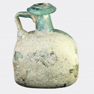 Roman Antiquities - Roman rectangular glass flask