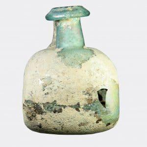 Roman Antiquities - Roman rectangular glass flask