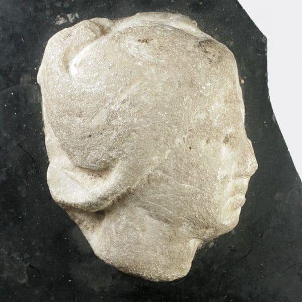 Roman Antiquities - Roman marble head fragment