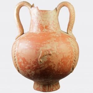 Roman Antiquities - Roman North African slip ware flask