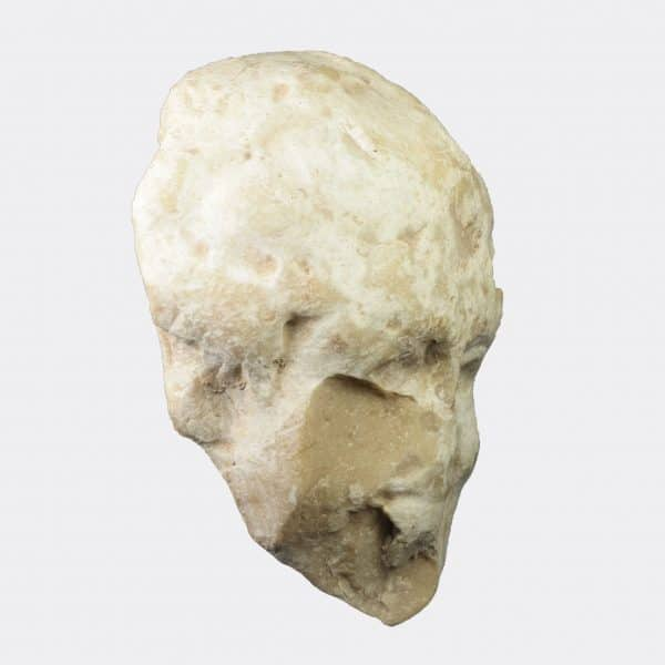 Roman Antiquities - Roman marble head of a maenad