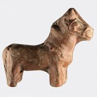 Miscellaneous Antiquities - Egyptian Coptic pottery horse