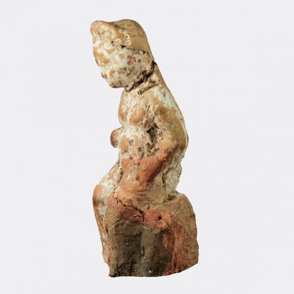 Greek Antiquities - Greek pottery seated youth