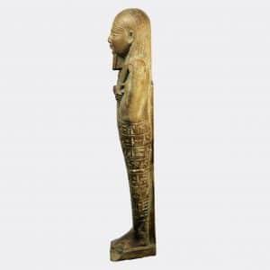 Egyptian Antiquities - Egyptian faience shabti of Djed-Hor