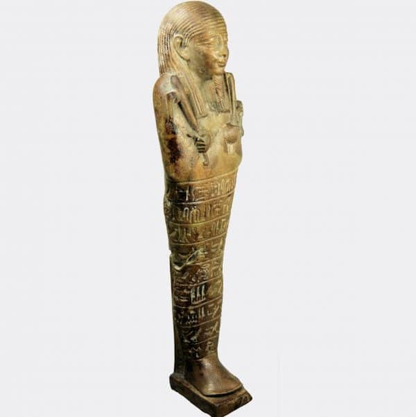 Egyptian Antiquities - Egyptian faience shabti of Djed-Hor