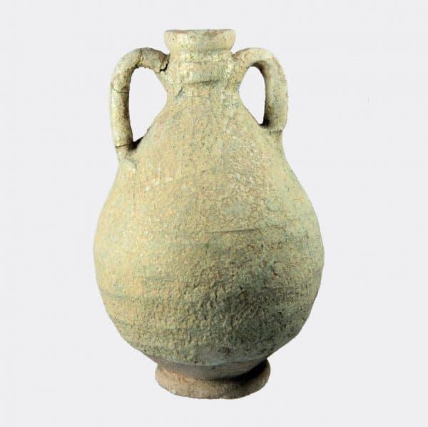 Islamic Antiquities - Kashan glazed pottery vase