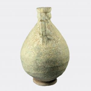 West Asian Antiquities - Kashan glazed pottery vase