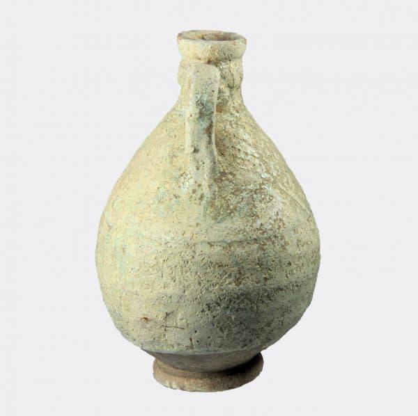West Asian Antiquities - Kashan glazed pottery vase