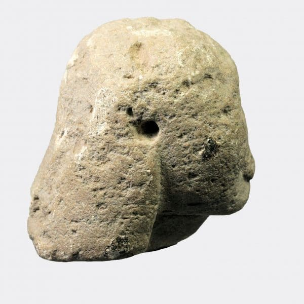 Greek Antiquities - Greek Archaic limestone head