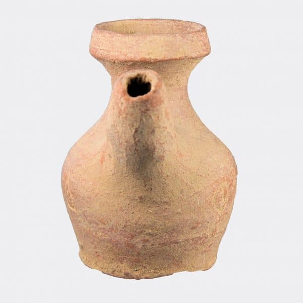 Miscellaneous Antiquities - Byzantine pottery pouring vessel with inscription