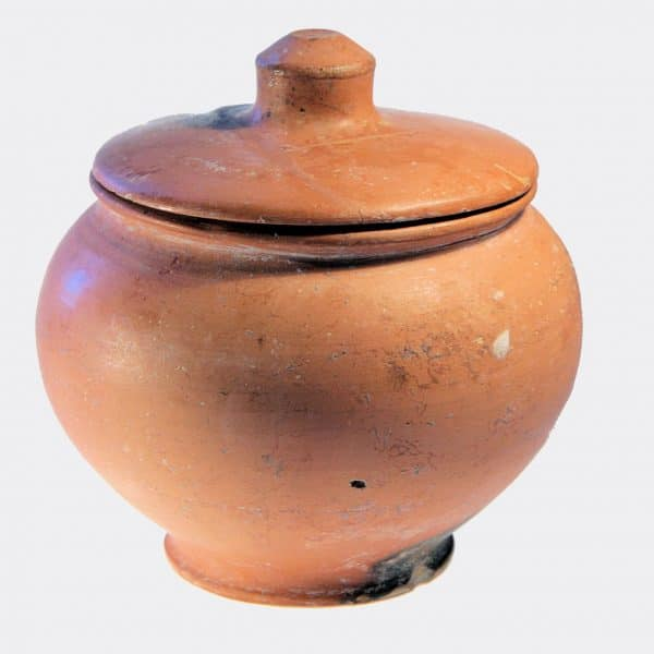 Greek Antiquities - Greek pottery urn and lid