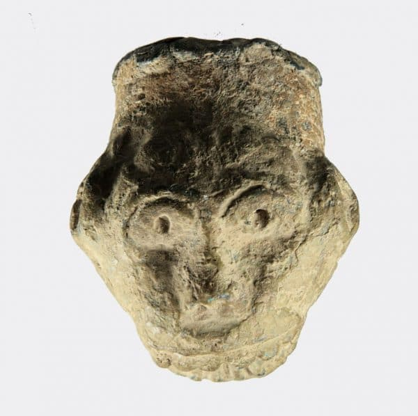Miscellaneous Antiquities - Medieval lead grotesque head