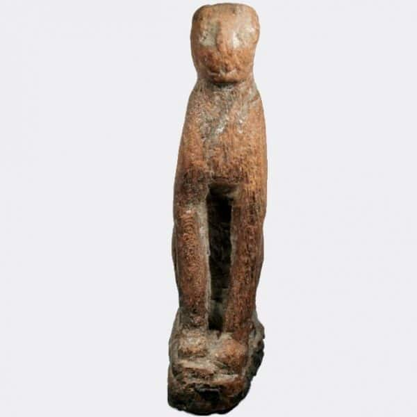 Egyptian Antiquities - Egyptian hardwood seated cat